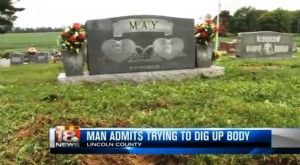 Lincoln County Man Digs Up Father in Cemetary